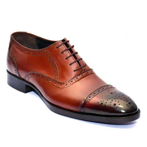 oxford leather shoes with patant toe JD 010. Handmade customizes men leather shoes