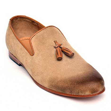 loafer with oxford style in leather Jd-014 Brown