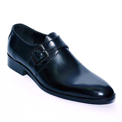 Plain side buckle JD 029 – Custom made hand crafted men leather shoes