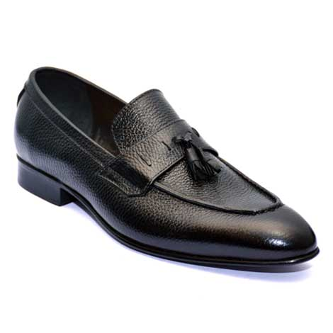 Loafer in mild leather JD 068 – Custom made hand crafted men leather shoes