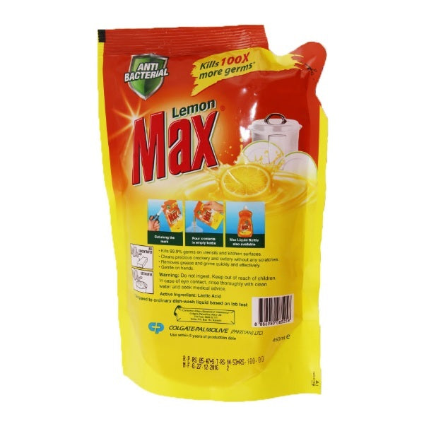 Max Dish Wash Liquid Pouch 450ML
