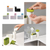 Sink Tidy Set - 2 Pcs - White & Green