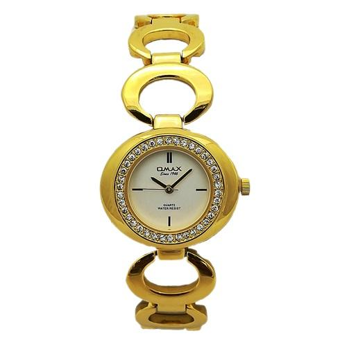 Omax Analog White Dial Women's Watch