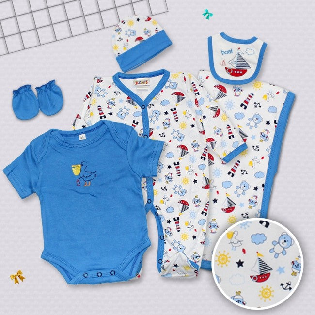 Little Star 6 PCS Suit Set Boot Blue