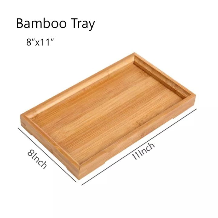 Bamboo Wood Serving Tray Tea Coffee Food Platter Home Decoration Serving