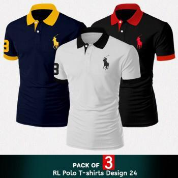 Pack of 3 RL Horse Polo T. Shirt For Men