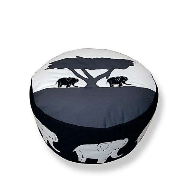 Elephant Foot Stool Bean Bag Ottoman - Multicolour