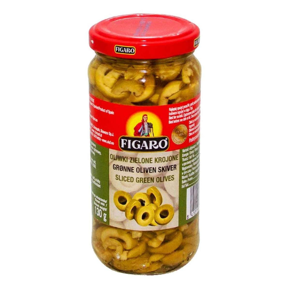 Figaro Slice Green Olives 230gm