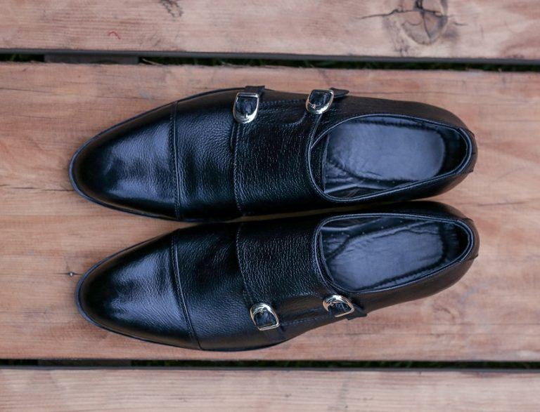 Double monk in mild leather JD 071
