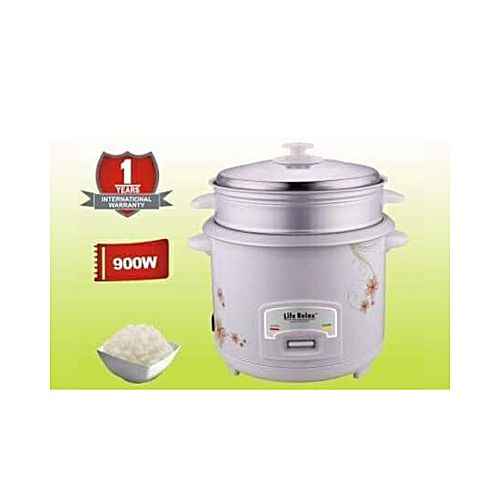 LR-602 Electric Rice & Pressure Cooker 6 Liter - White