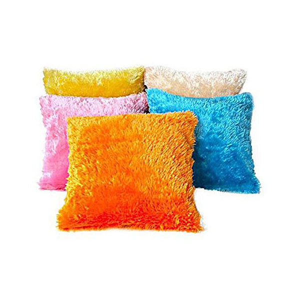 Pack of 5 Fur Cushion in Multi-Colour