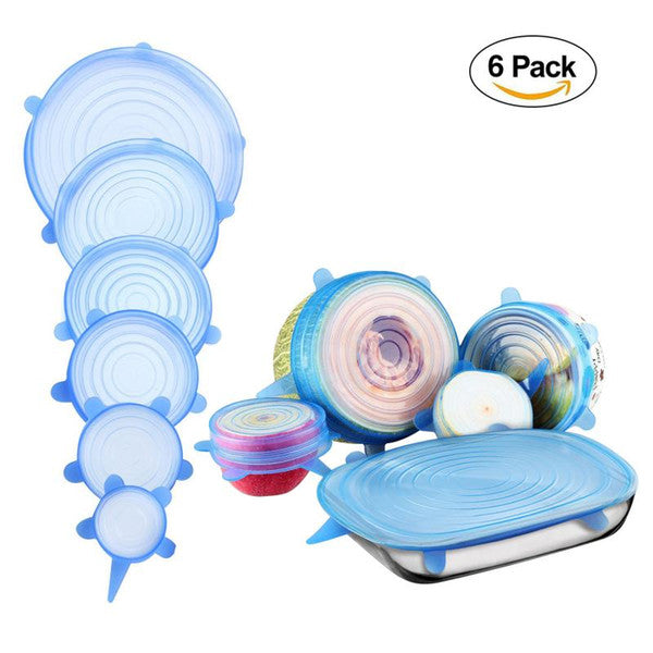 6 Pcs Reusable Food Storage Stretchable Cover