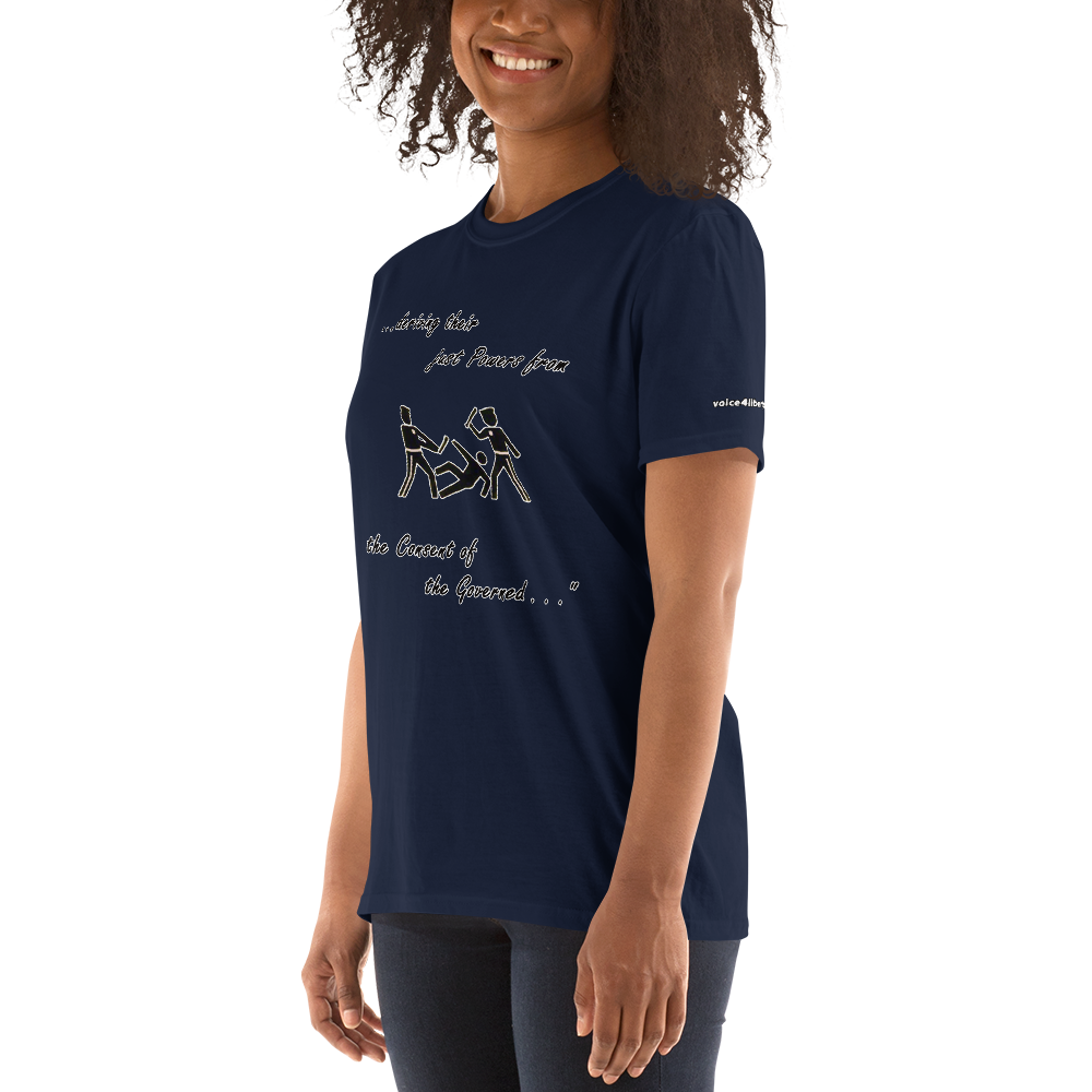 Consent Short-Sleeve Unisex T-Shirt (153 g/m²) - Voice4liberty