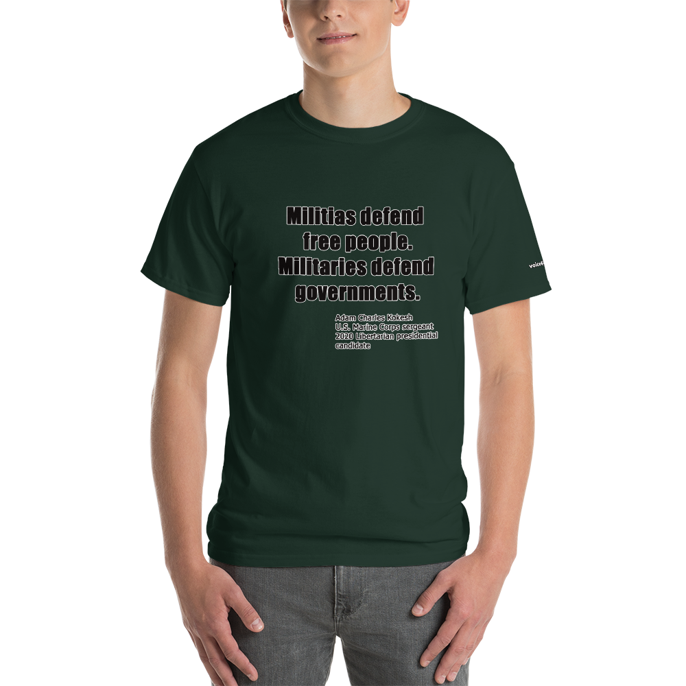 Militia vs Military T-Shirt - Voice4liberty