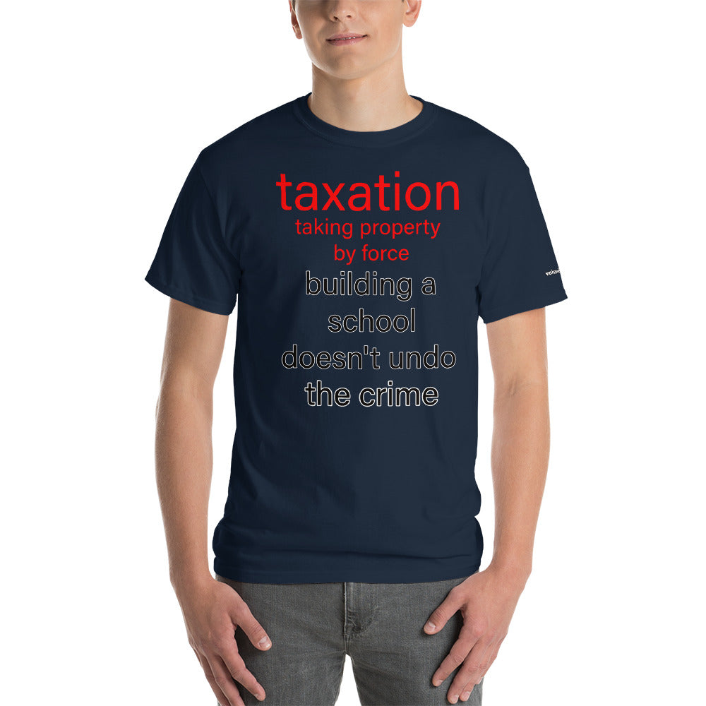 Building a School with Stolen Money T-Shirt - Voice4liberty