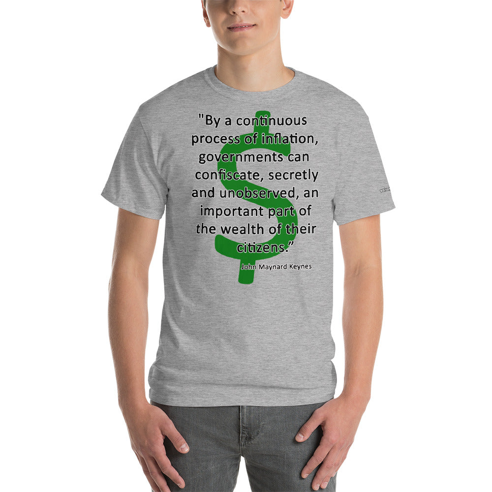 Inflation/Confiscation - Keynes Quote T-Shirt - Voice4liberty
