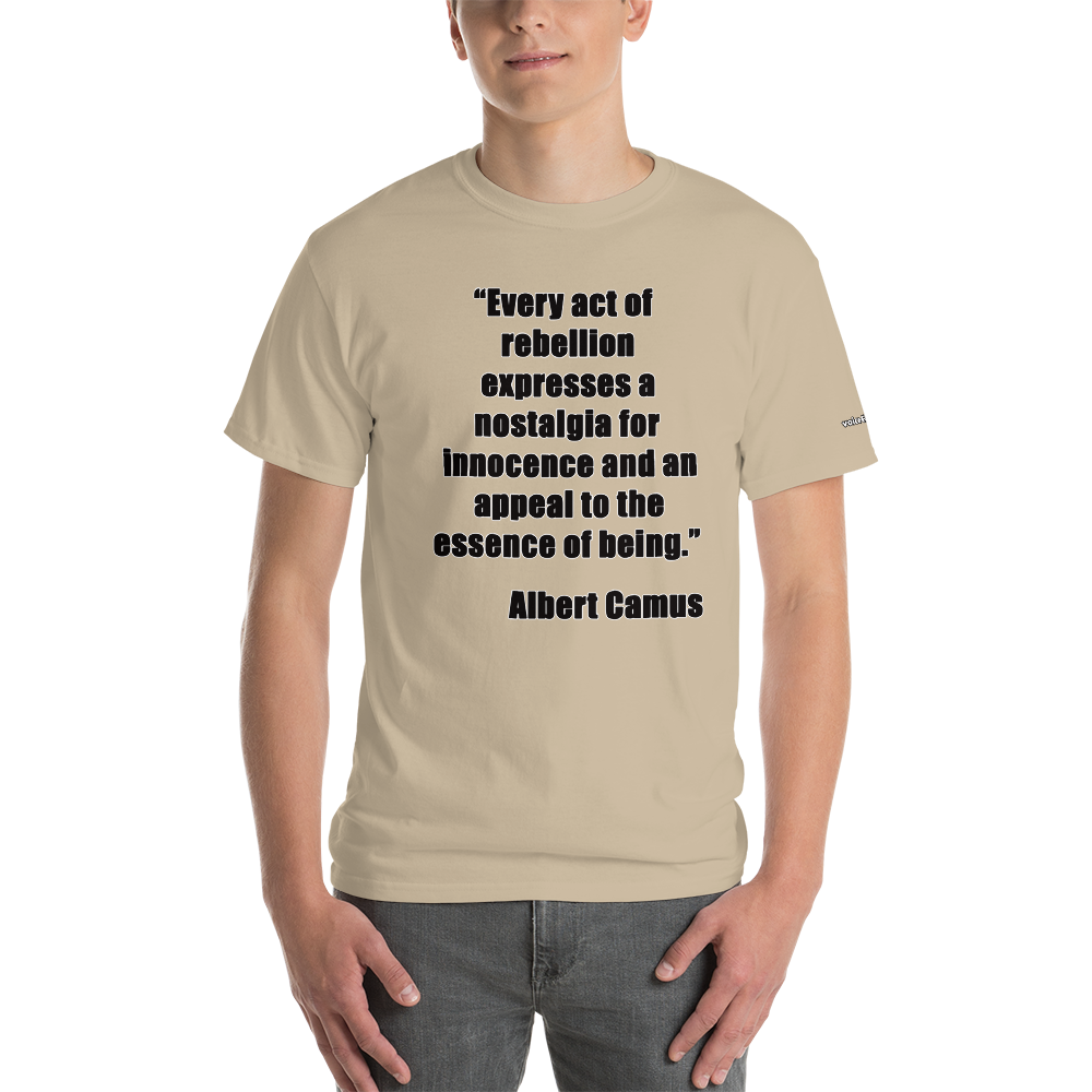 Camus life in Rebellion T-Shirt - Voice4liberty