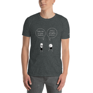 Greeting Aliens Short-Sleeve Unisex T-Shirt (153 g/m²) - Voice4liberty