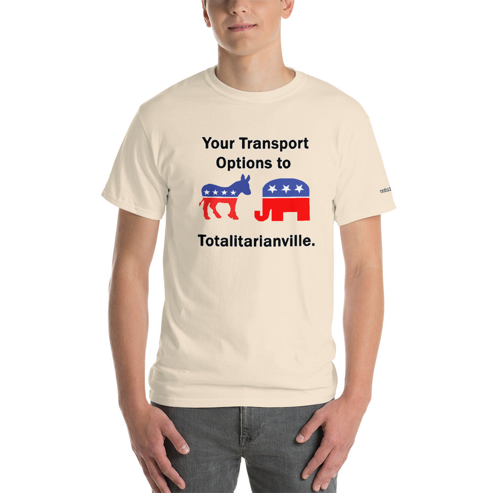 Transport Options to Totalitarianville T-Shirt - Voice4liberty