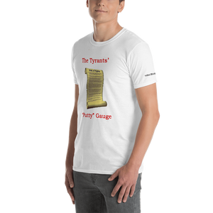 Putty Gauge-Short-Sleeve Unisex T-Shirt (153 g/m²) - Voice4liberty