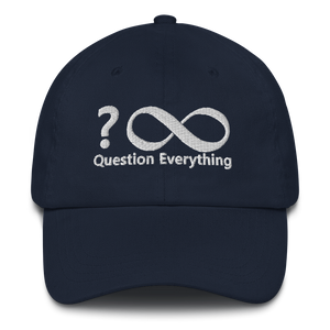 Qustion Everything - Dad hat (navy) - Voice4liberty