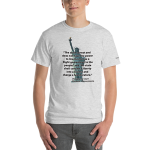 Can't Convert Liberty into a License T-Shirt - Voice4liberty