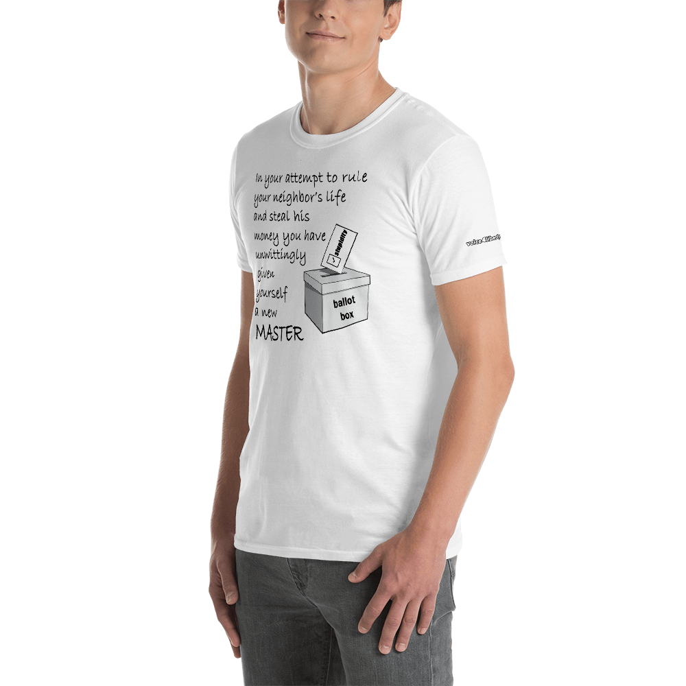 New Master-Short-Sleeve Unisex T-Shirt (153 g/m²) - Voice4liberty