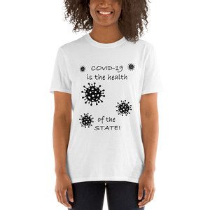 Covid 19 - Short-Sleeve Unisex T-Shirt  (153 g/m²) - Voice4liberty