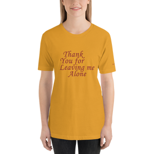 Leave me Alone Short-Sleeve Unisex T-Shirt - Voice4liberty