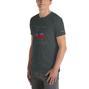 Deeds and Words-Short-Sleeve Unisex T-Shirt (153 g/m²) - Voice4liberty