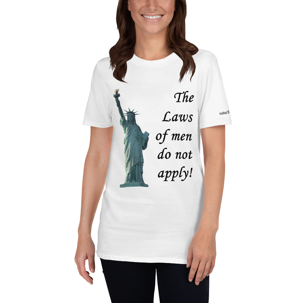 The laws of men Short-Sleeve Unisex T-Shirt (153 g/m²) - Voice4liberty