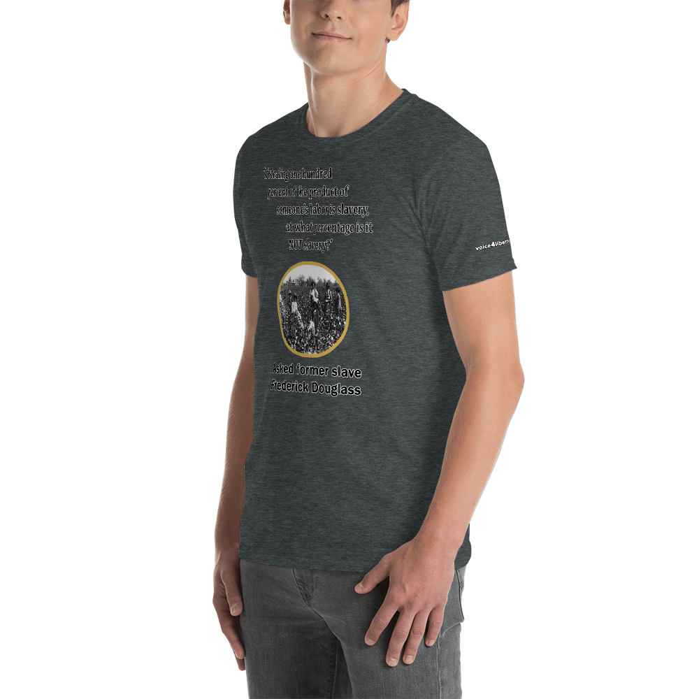 What% Short-Sleeve Unisex T-Shirt (153 g/m²) - Voice4liberty