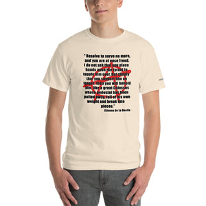 Resolve to Serve no More Long Version T-Shirt - Voice4liberty