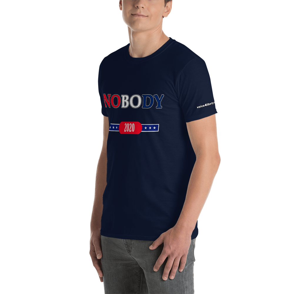 NOBODY - Short-Sleeve Unisex T-Shirt (153 g/m²) - Voice4liberty