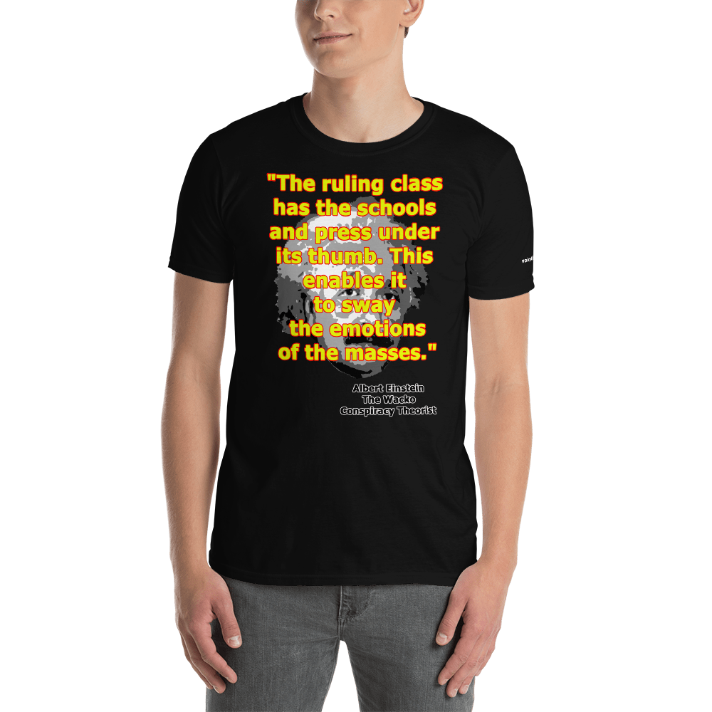 Einstein The Conspiracy Theorist Short-Sleeve Unisex T-Shirt (153 g/m²) - Voice4liberty