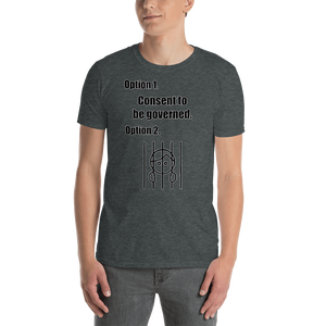 Consent/jail Short-Sleeve Unisex T-Shirt  (153 g/m²) - Voice4liberty