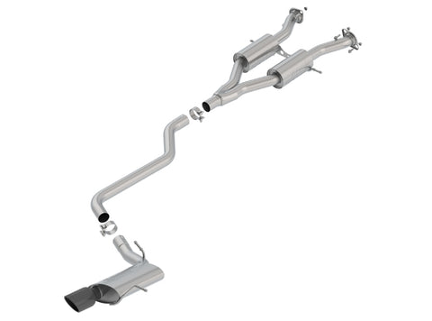 Borla Cat-Back Exhaust S-Type Jeep Grand Cherokee WK2 (14-19)  V6 3.6L / Black Tips