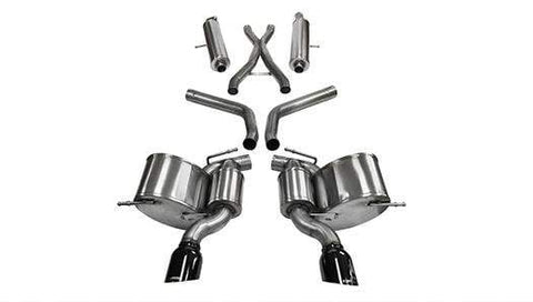Corsa Sport Cat-Back Exhaust (Black) Jeep Grand Cherokee SRT 6.4L V8 Hemi (12-19)
