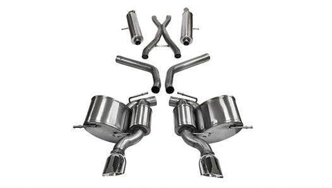 Corsa Sport Cat-Back Exhaust (Polished) Jeep Grand Cherokee SRT 6.4L V8 Hemi (12-19)