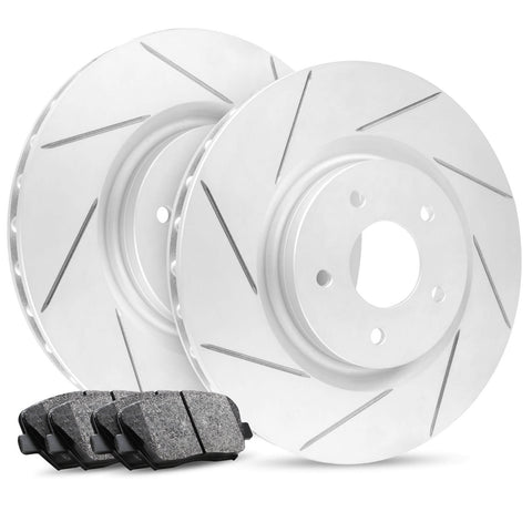 R1 Concepts Slotted Rotors+Pads+Hardware / (11-20) Dodge Durango R/T 5.7L V8