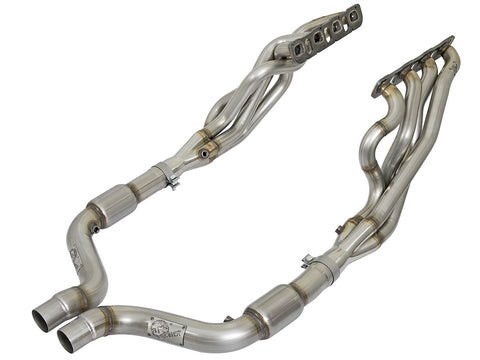 "aFe Catted 2"" Twisted Long Tube Header & Connection Pipes (15-18) Dodge Challenger/Charger SRT V8 6.4L/6.2L SC Hemi"