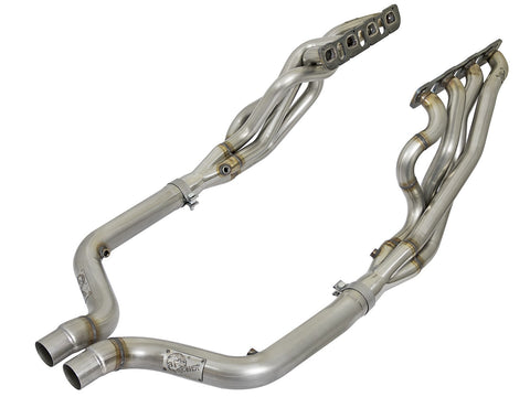 "aFe Non-Catted 2"" Twisted Long Tube Header & Connection Pipes (15-19) Dodge Challenger/Charger SRT V8 6.4L HEMI"