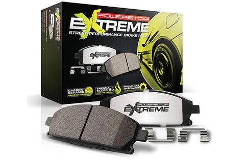 POWERSTOP Extreme Carbon Ceramic Brake Pads / Dodge, Jeep / 6-Piston Front & 4-Piston Rear Setup