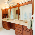 Dual Master Bathroom Sinks - For Rent: 430 Council Drive NE, Vienna, VA 22180