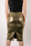 La Francesca Gold Metallic Skirt