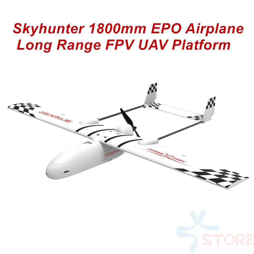 2018 New Skyhunter 1800mm 1.8m EPO Wings FPV Platform UAV Remote Control Electric Powered Glider FPV Airplane Frame Kit