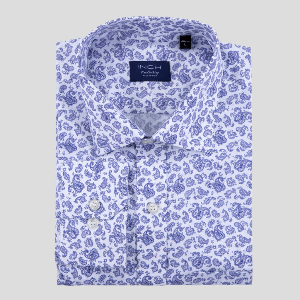 INDIAN BLUE PAISLEY