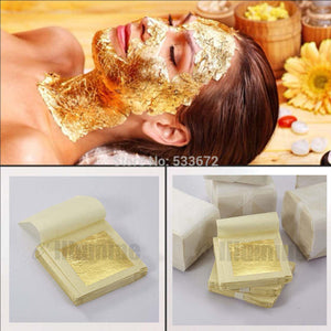 5PCS 4.33*4.33cm Gold Foil Mask Sheet Spa 24K Gold Face Mask Thailand Beauty Salon Equipment Anti-Wrinkle Lift Face  Beauty Care
