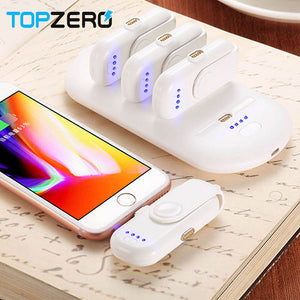 TOPZERO Portable 4 Mini Power Bank Magnetic Fast Charging for iPhone Samsung Micro Type C Mobile Phone Powerbank Charger