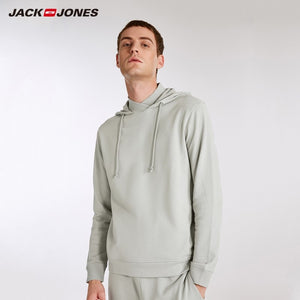 JackJones Men's Elastic Cotton Hoodie Long-sleeved T-shirt Tops Pajamas Homewear T shirt Fashion Menswear Male 218202501